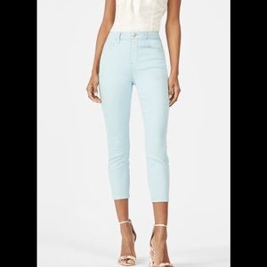 High Waisted Cool Crop Jeans in pale blue